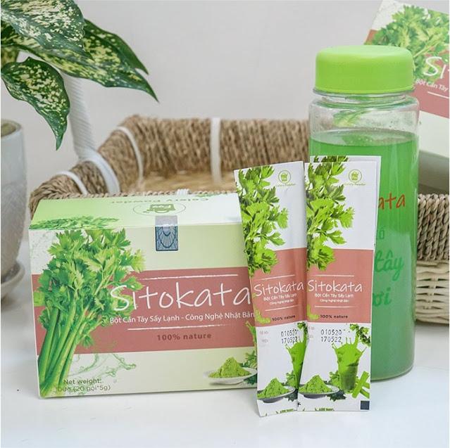 Bột cần tây Sitokata có tác dụng gì