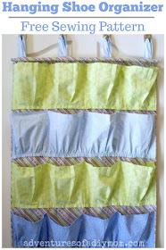 Hanging Shoe Organizer - Free Sewing Pattern