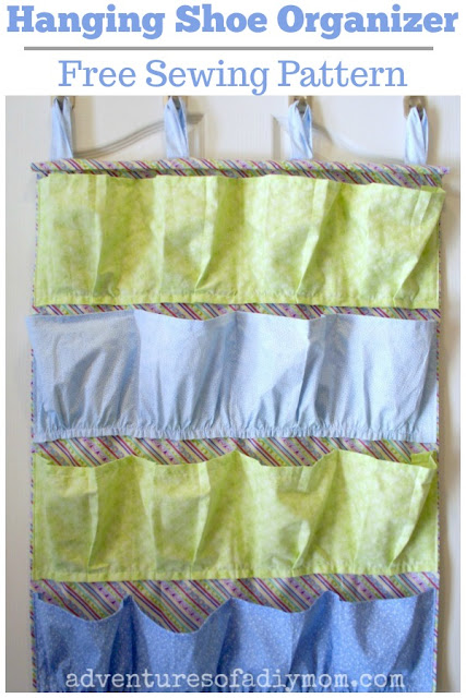 Hanging Shoe Organizer - Free Sewing Pattern