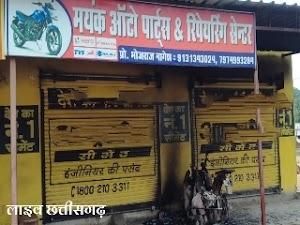 जिड़ार मोटर साइकिल स्टोर में बदमाशों ने किया मोटरसाइकिल को आग के हवाले | jidar motorcycle store