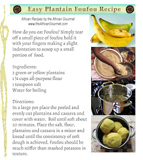 How to Make African Food Plantain Fufu Recipe