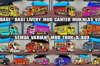 Koleksi Livery Mod Truck Canter Mukhlas v2 RSM Part 1
