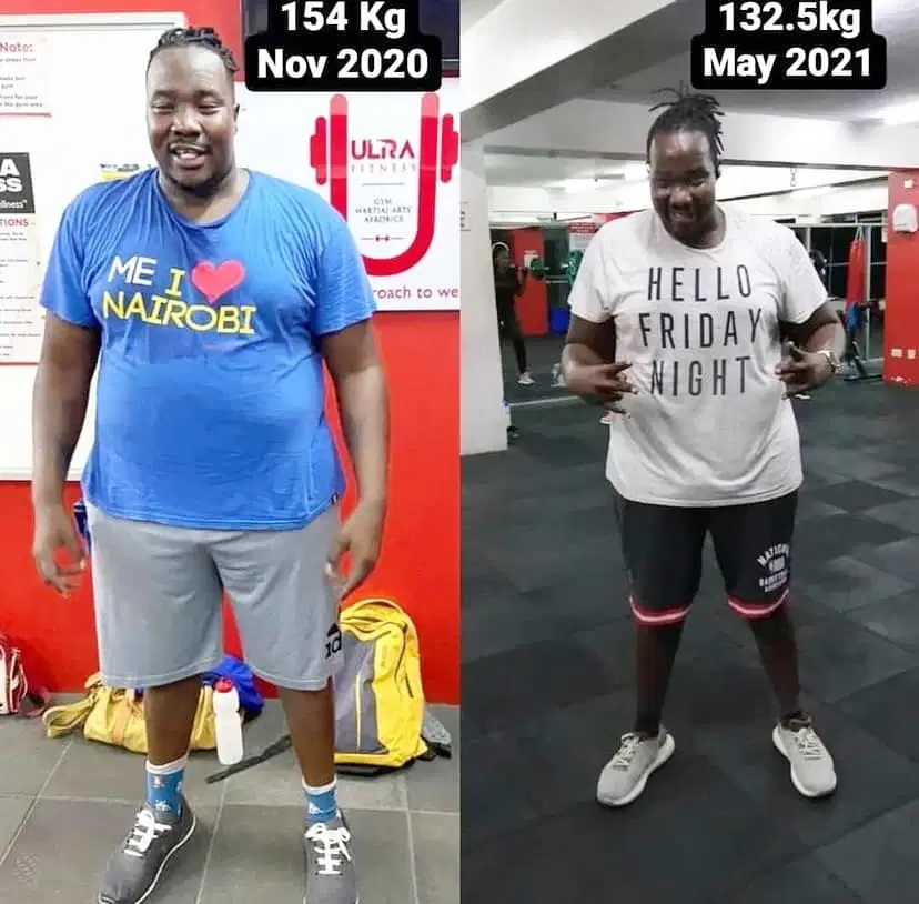 Willis Raburu shows off new body after loosing 22kgs