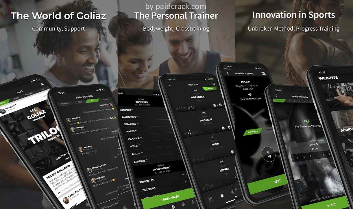 Goliaz Fitness Coach Premium Mod Apk 2.0.89