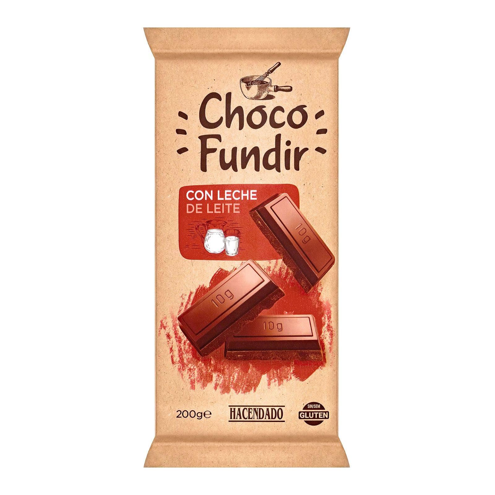 Chocolate con leche para fundir Hacendado
