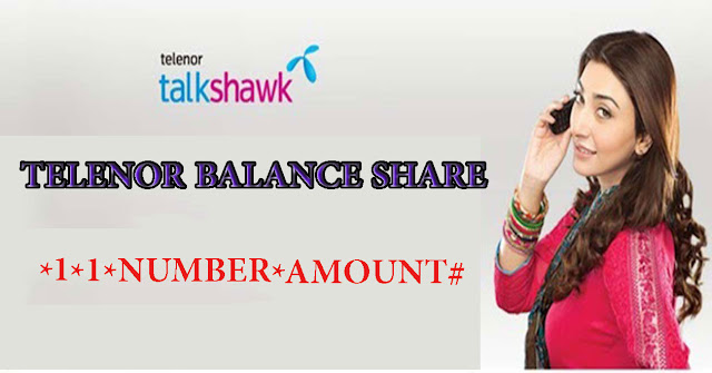 how to share balance from telenor to telenor