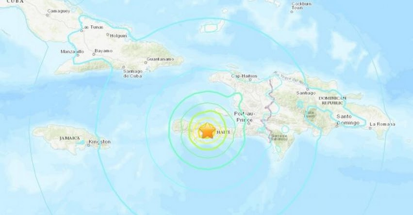 TERREMOTO EN HAITÍ: Potente sismo de magnitud 7,2 con epicentro en Saint-Louis du Sud - USGS
