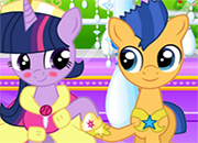 Besos de Twilight Sparkle y Flash Sentry juego