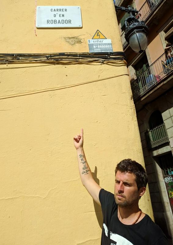 Carrer d'en Robador in Barcelona