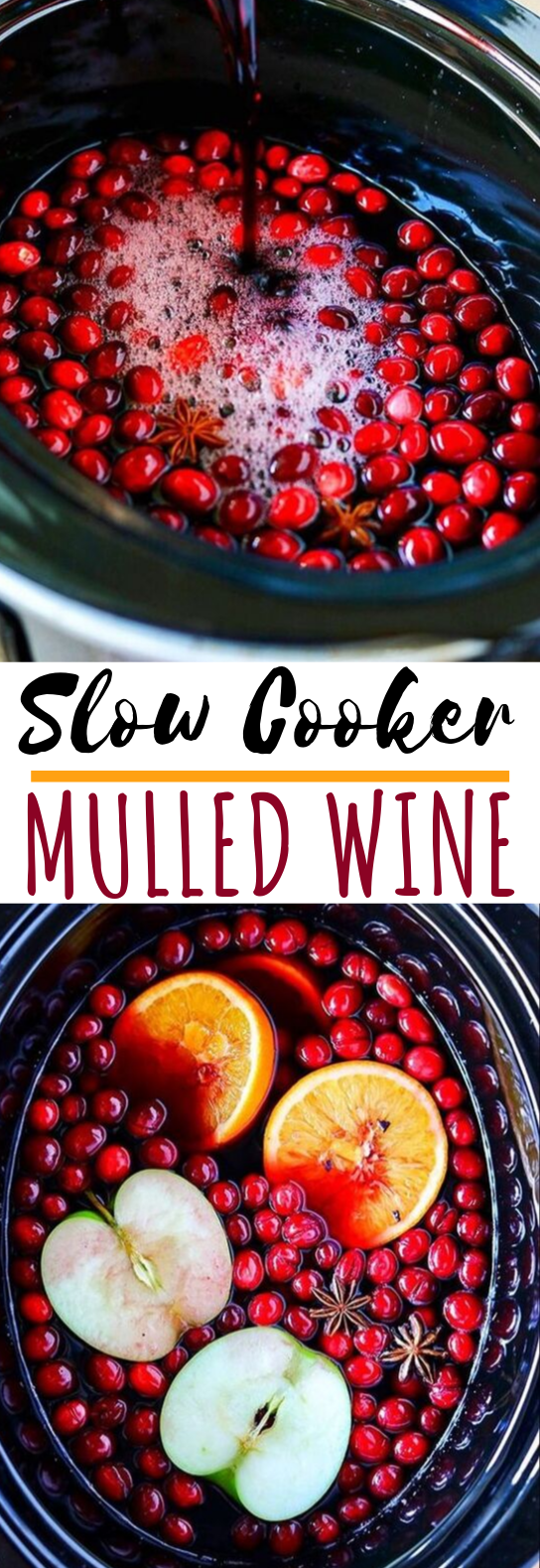 Slow Cooker Mulled Wine #drinks #wine