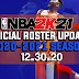 NBA 2K21 OFFICIAL ROSTER UPDATE 12.30.20