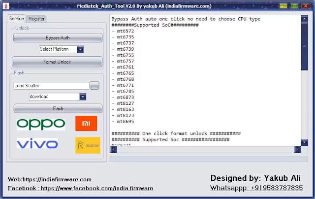 Mtk Auth Tool v2.0 download