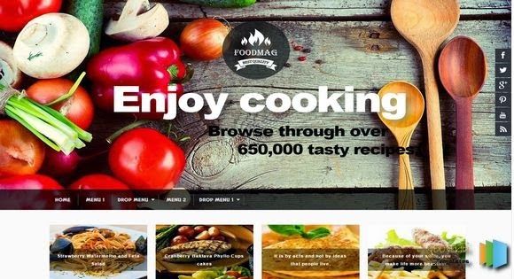 responsive blogger template food mag free download for recipes blogs