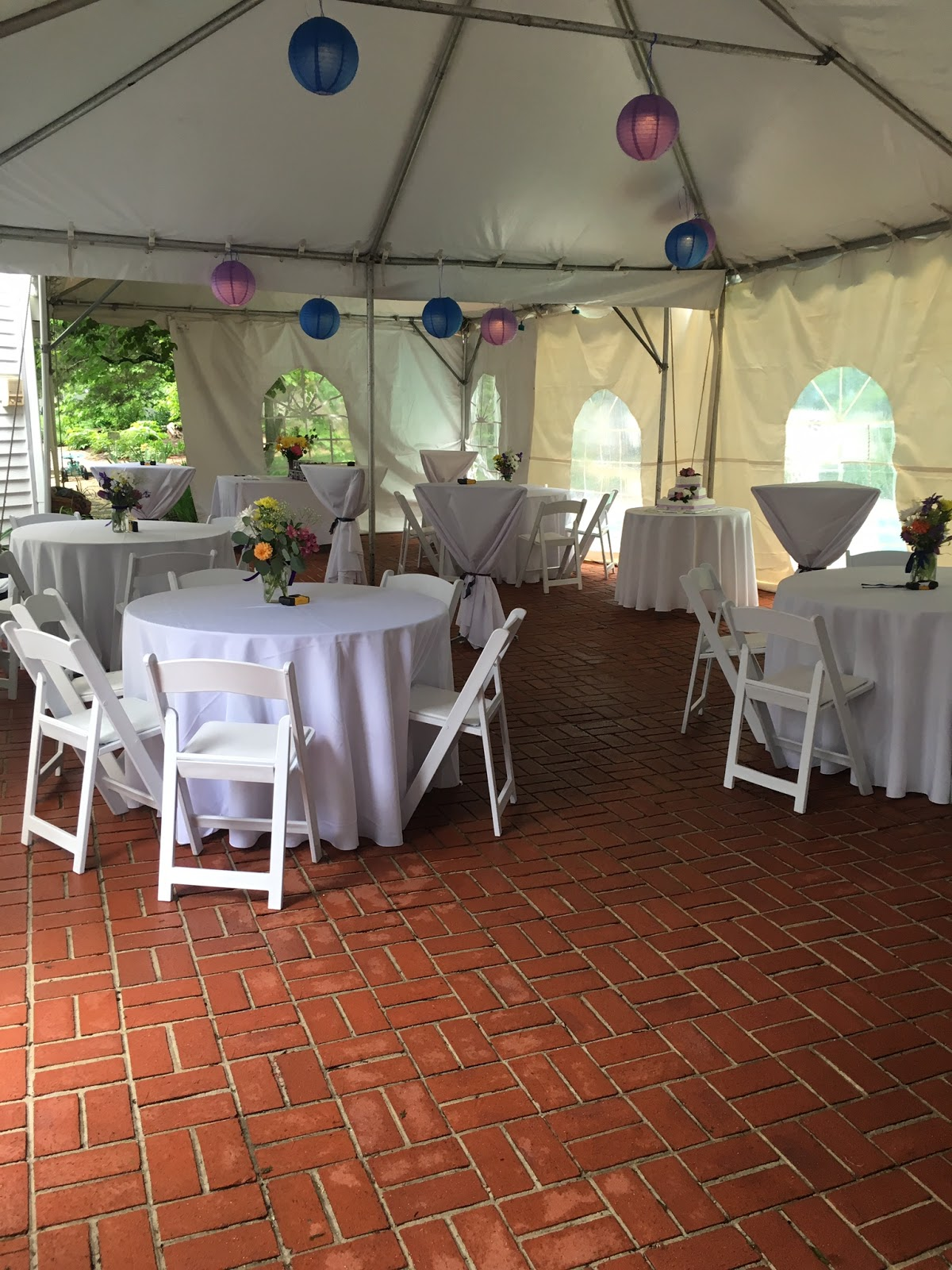 back yard wedding reception call teatime catering now northern
