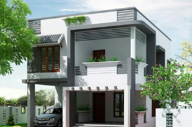 Minimalist 2-Story House with Spacious Balcony