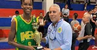 Yustin Llerena MVP baloncesto juvenil intercolegiado 2019 Cartagena Colombia