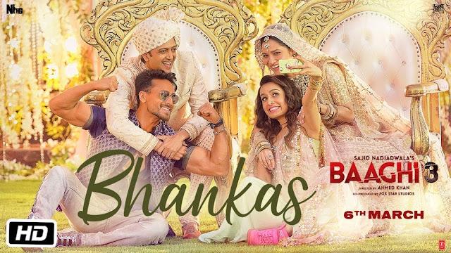 Bhankas Song Lyrics in Hindi I BAAGHI 3 I BAPPI LAHARI I TANISHK BAGCHI