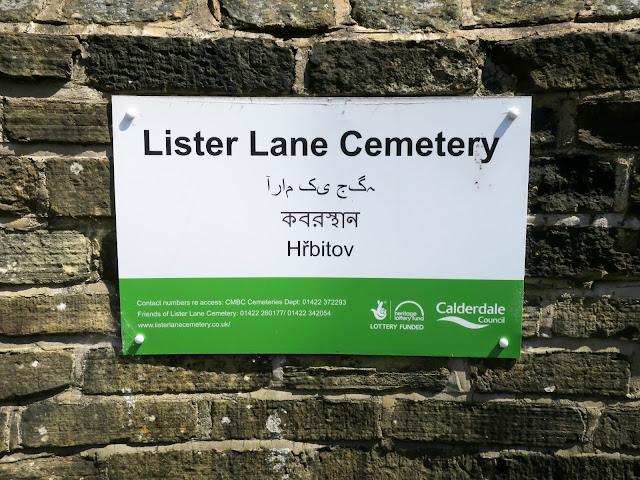 The notice at the entrance of Lister Lane Cemetery.