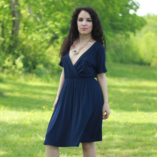 Navy Blue Tee Dress