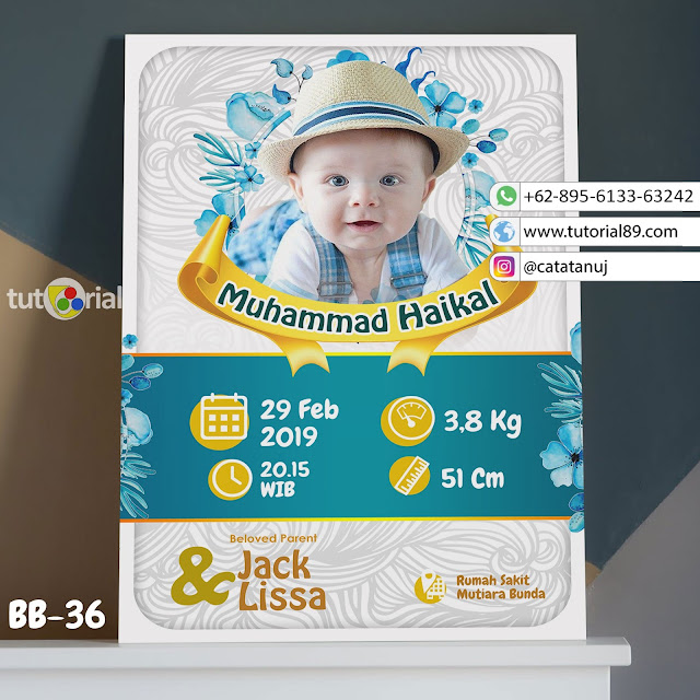 Biodata Bayi Costume Unik Kode BB32 | Biru Putih