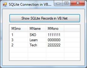 SQLite Record in Listview in VB.Net