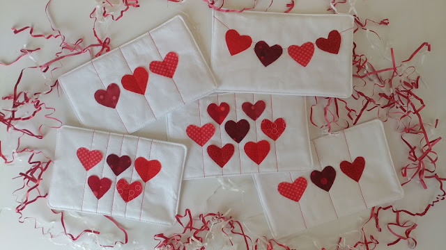 Quilted Valentine and Galentine cards