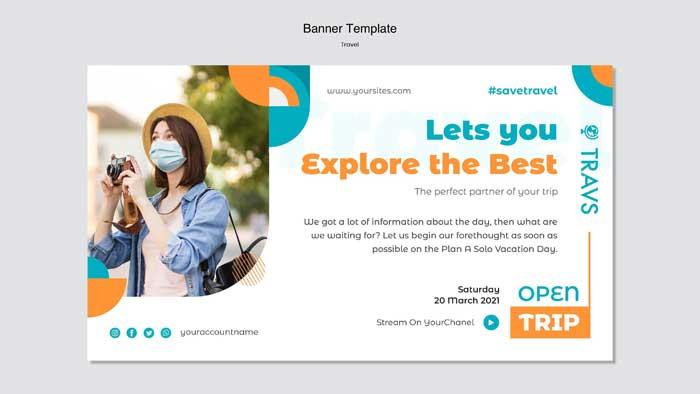 Travel Banner PSD Template