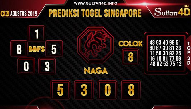 PREDIKSI TOGEL SINGAPORE SULTAN4D 03 AGUSTUS 2019