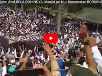 Inilah Video Aksi Bela Rohingya di Masjid An Nur Kecamatan Borobudur Magelang, Panji Raksasa Diarak