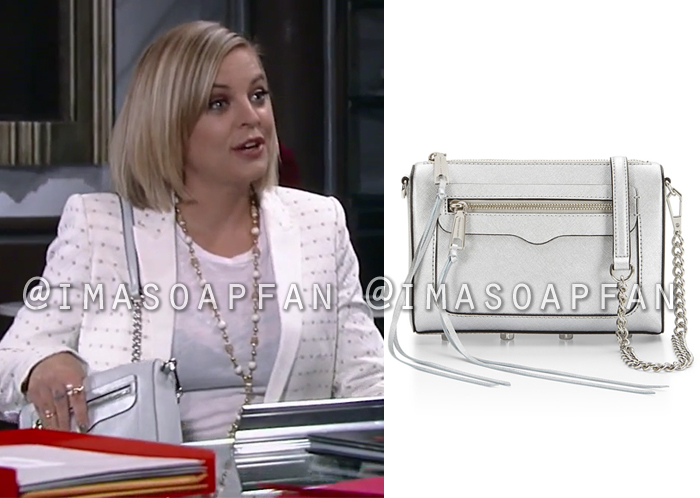 Maxie Jones, Kirsten Storms, Silver Crossbody Purse, General Hospital, GH