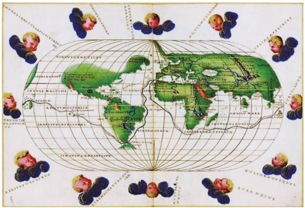 Battista Agnese, Atlas Portulano, 1545. Biblioteca Digital Mundial.