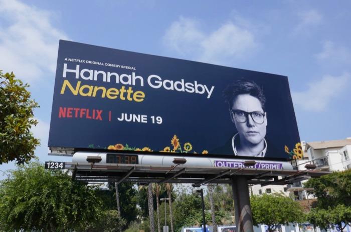 Hannah Gadsby Nanette Netflix billboard