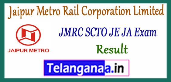 JMRC Jaipur Metro Rail Corporation Limited SCTO JE JA Cutoff  Result 2018