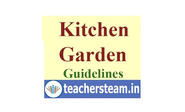 Kitchen Garden development in schools - Guidelines issued