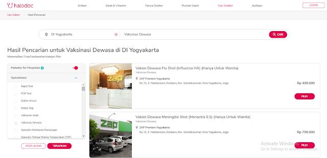 Cari Tempat Vaksin Yogyakarta