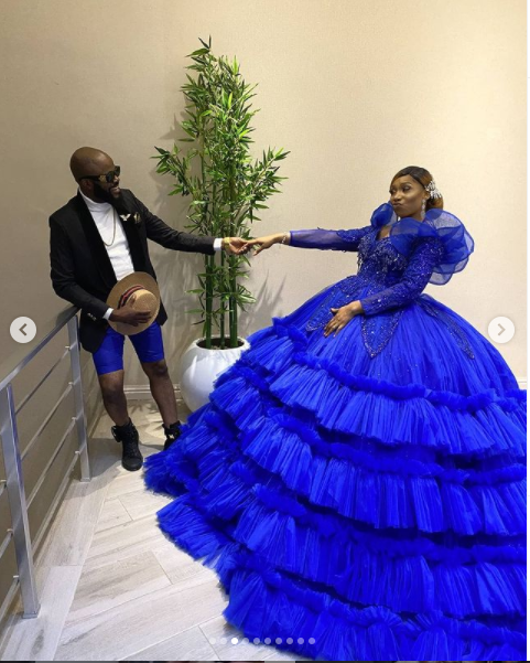 A moment in my life, I felt so down you were there for me- Actor Chief Imo celebrates 10 years wedding anniversary with his wife (Photos)
