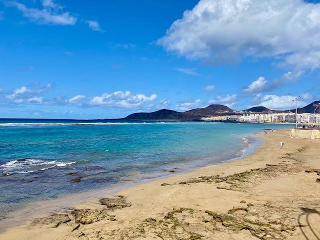 Playa de las Canteras beach, Las Palmas, Gran Canaria, Spain