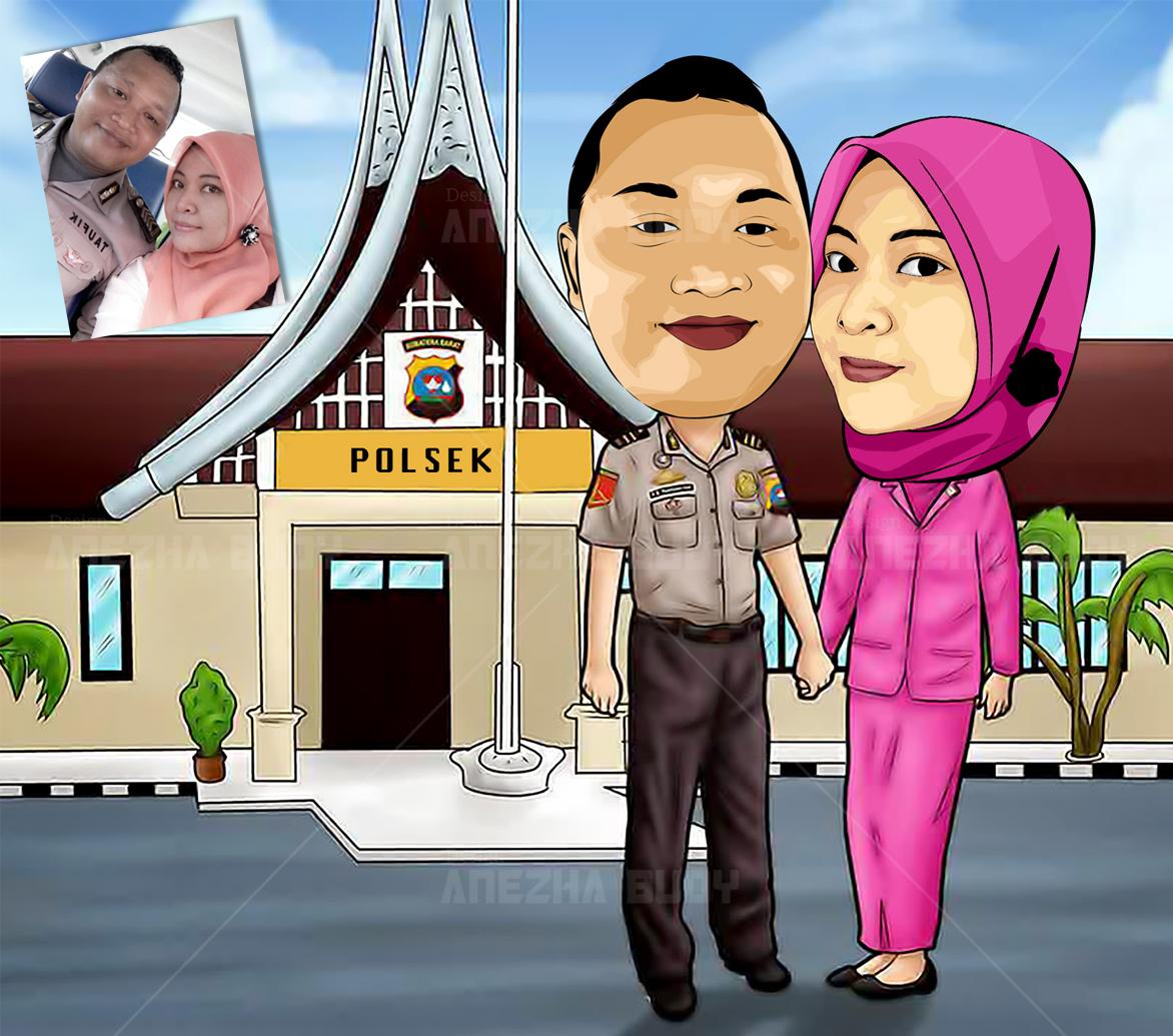 Gambar Kartun Polisi Dan Pasangan Keren