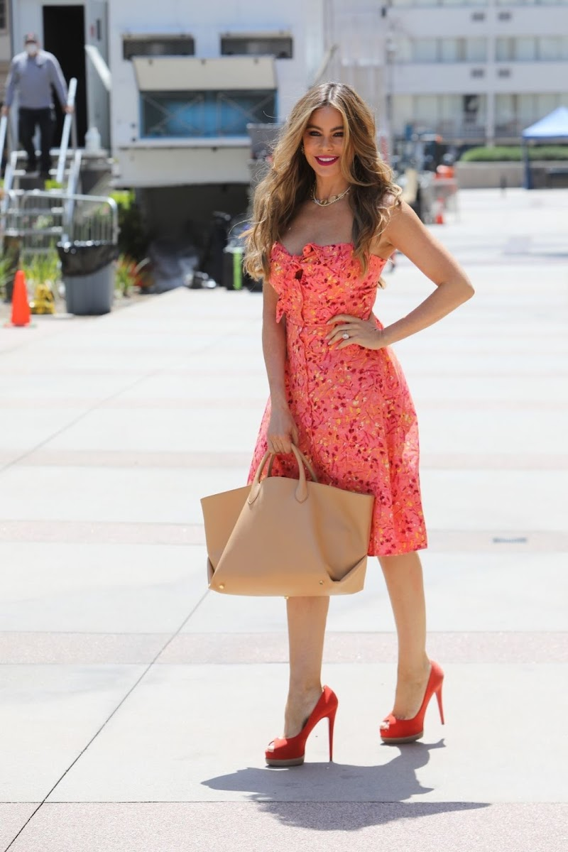 Sofia Vergara Spotted at America's Got Talent in Los Angeles 16 Apr-2021