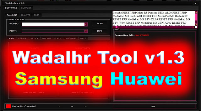 WadalhrTool v1.3 Samsung Huawei Unlock Flash IMEI FRP BY JonakiTelecoMs