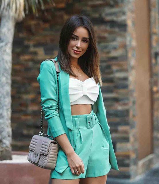 look com blazer verde água