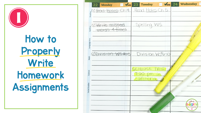 Homework organization does not come naturally to many students. These homework tips, that students can use in their homework planners, will teach them how to transition from one step to another, helping them with their homework organization. It also includes a FREE homework planner key.