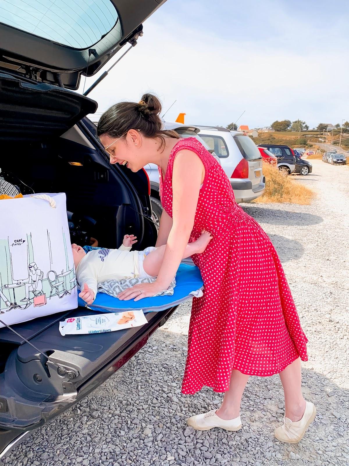 melogommette waterwipes vraieviedeparents lingettes écolo bébé change voiture vacances