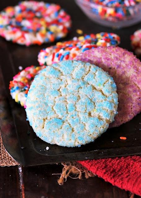 Sprinkle Sugar Cookies with Sugar Crystal Sprinkles Image