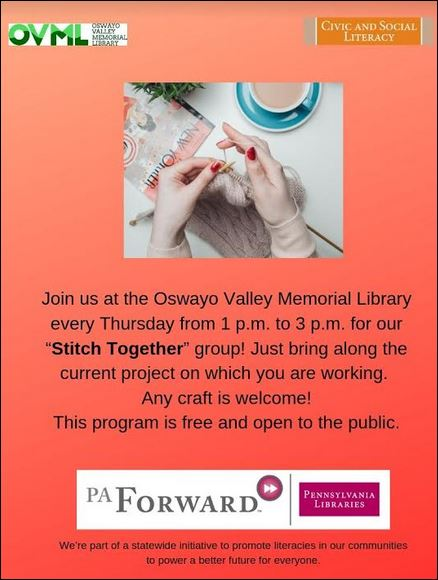 "Thursdays: OVML ""Stitch Together"" Group"