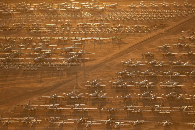 Thousands of aircraft in the United States were deactivated due to the Covid-19 epidemic