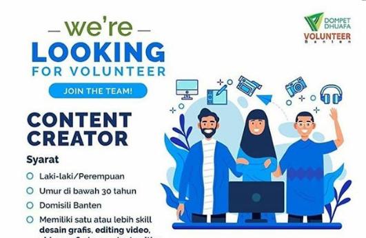 Lowongan Kerja Content Creator Dompet Dhuafa Banten