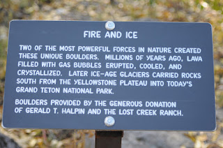 Fire and Ice Sign - Grand Teton National Park