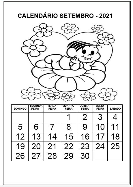 Profª Ivani Ferreira Calendario 2021 Para Imprimir E Colorir