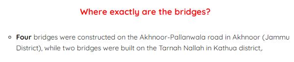 Rajnath Singh inaugurates 6 bridges in Jammu and Kashmir